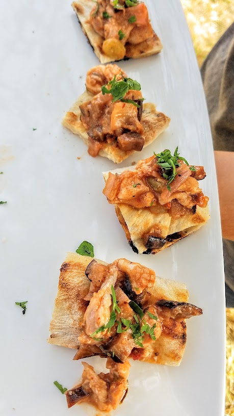 Plate and Pitchfork, bringing farm to table dinners during the summer in Portland where guests dine al fresco on farms: Pizza Bianca with Diggin' Roots Caponata