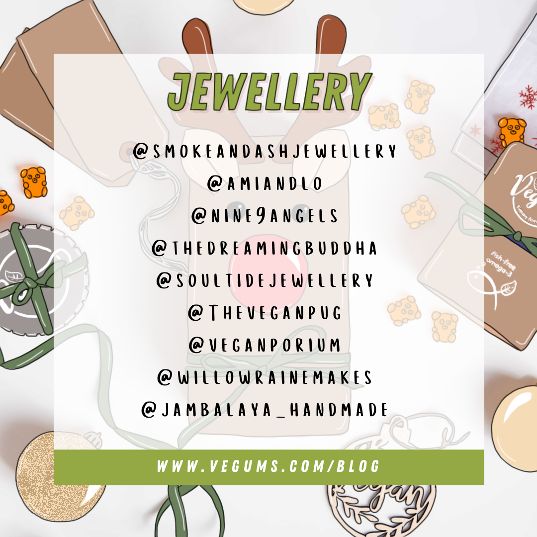 List of small Vegan jewellery businesses that shoppers can support during Christmas