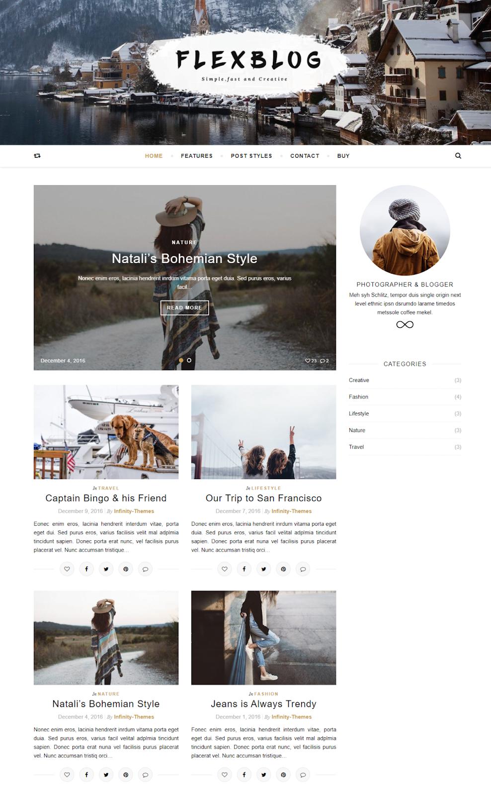 Best WordPress Instagram Themes Flexblog