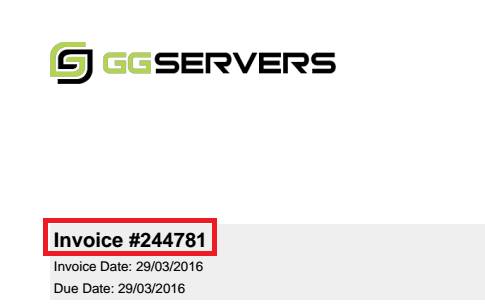 Finding Your Invoice ID - Knowledgebase - GGServers Ltd