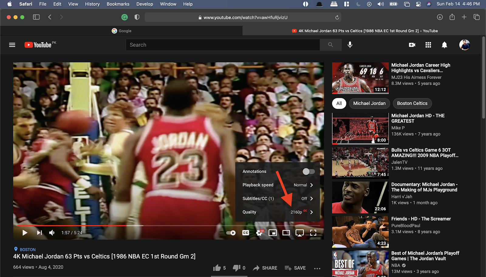 Watch YouTube video in 4k on your M1 MacBook
