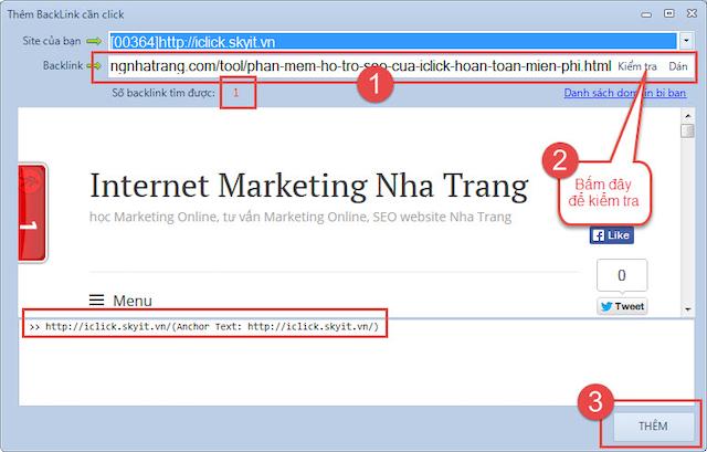 Phần mềm click backlink giúp website tăng lượt xem hiệu suất cao