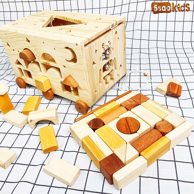 Đồ chơi an toàn bằng gỗ thông minh cho bé từ 5SAOKID