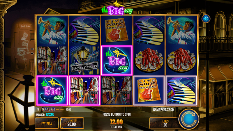 The Big Easy Slot Background Story
