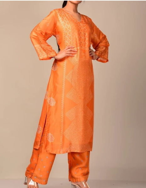 Vasansi Mango Bandhani Kurta Suit for Women