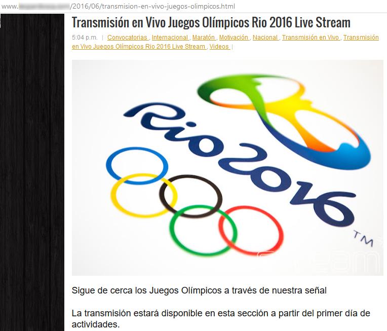 fake streaming rio2016