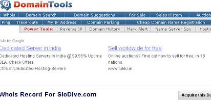 Free reverse domain name search