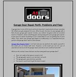 garage door repair in Perth