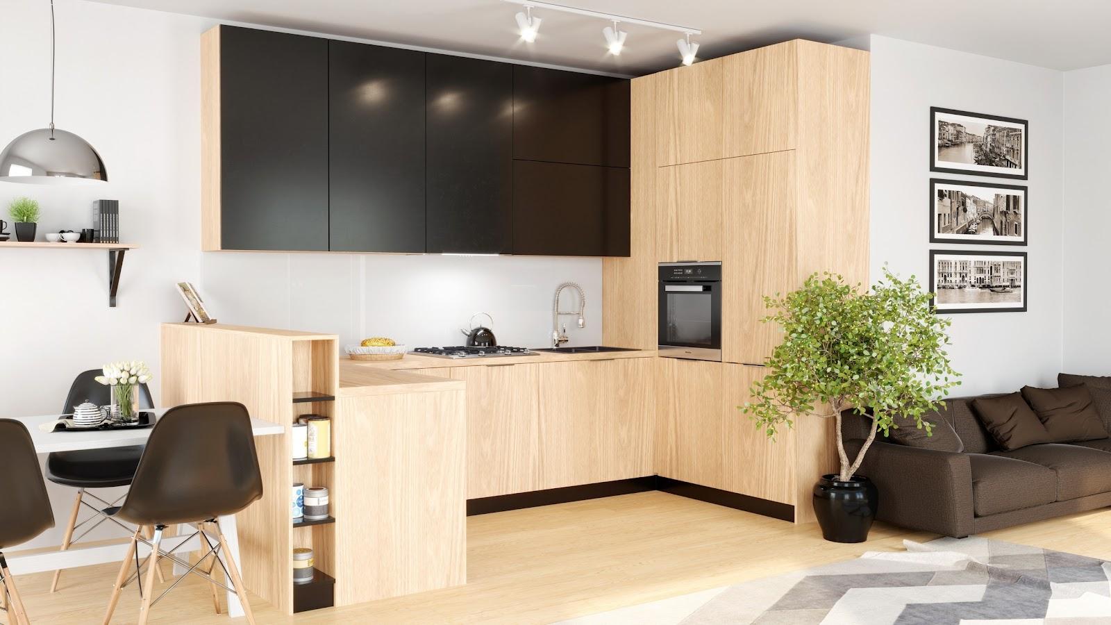 Okap do kuchni z salonem Globalo Senturo