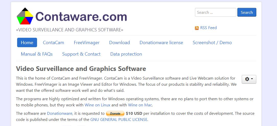 Contaware IP Camera Software