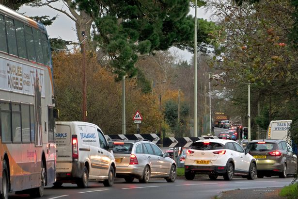Early morning traffic congestion at the junction of the A3125 with the B3233 - This queue of traffic into Barnstaple occurs every weekday morning and further housing developments in Bickington, Fremington and Yelland are likely to exacerbate the situation.