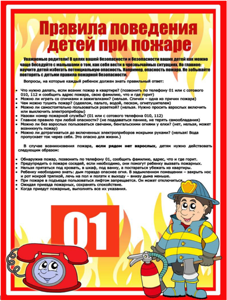 C:\Users\User\Downloads\Правила поведения детей при пожаре.png