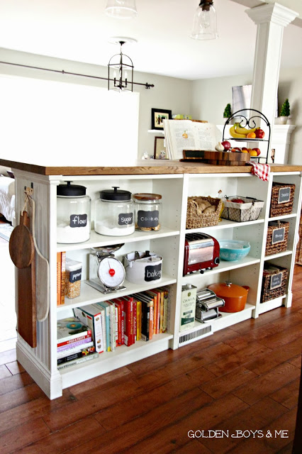 Turn Bookshelves into an Island: These will help you save money and transform your space.