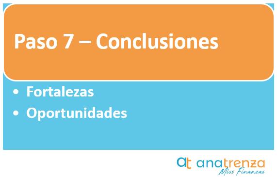Paso 7 del plan de negocio - Conclusiones
