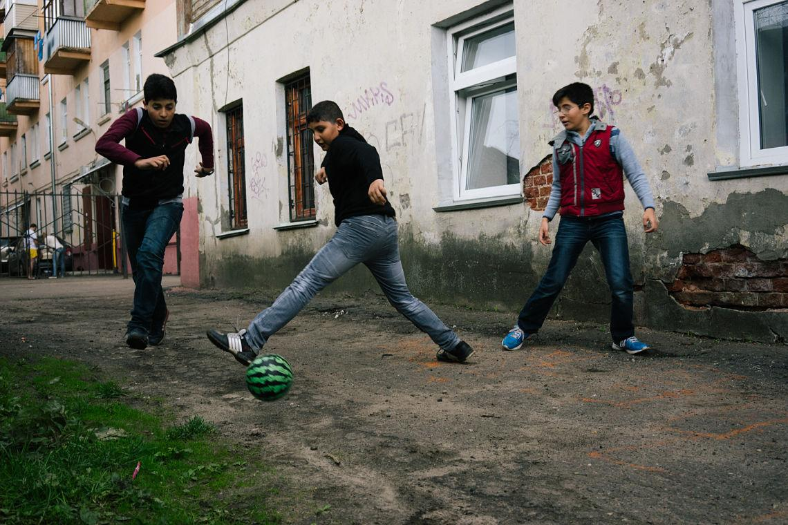 réfugiés syriens école moscou russie