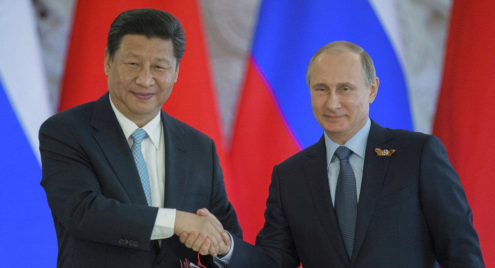Vladimir Poutine et le président chinois