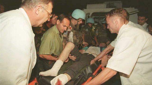 Эвакуация раненых с Жепы