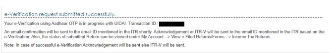 e-verification successful