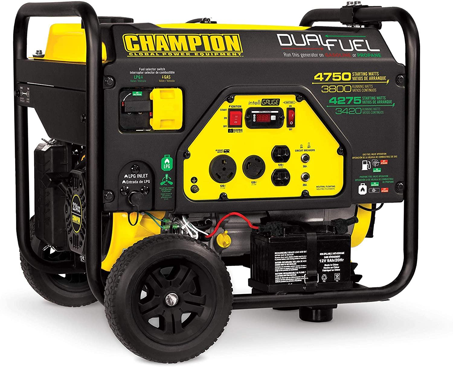 CHAMPION DUAL FUEL - best generator 2020