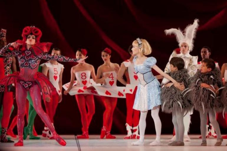 ballet performance of Alice's Adventures in Wonderland