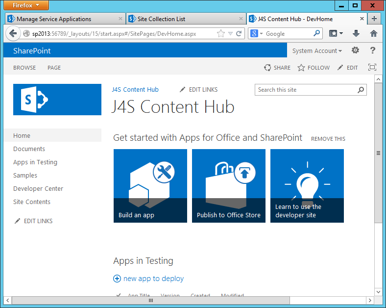 Potential Archive - Creating a Content Type Hub in SharePoint 2013