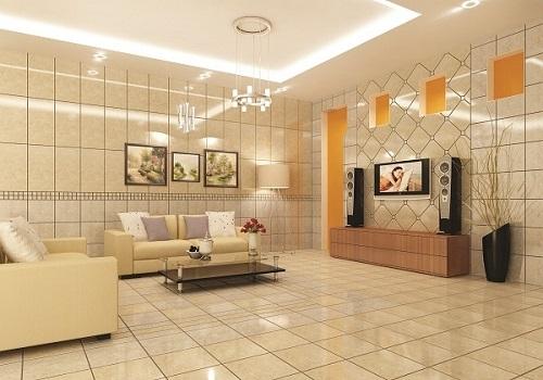 Gạch ốp giúp phòng khách trở nên sang trọng hơn