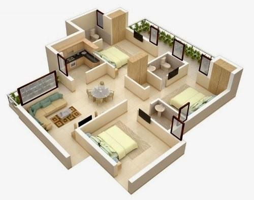 Các phòng ngủ của biệt thự được thiết kế hiện đại, ấm cúng và tiện nghi
