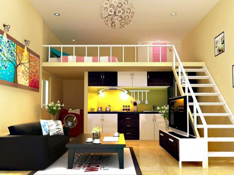 Phòng ngủ trên bếp 4