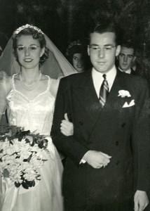 Hazel and Walt on their wedding day, May 17, 1942