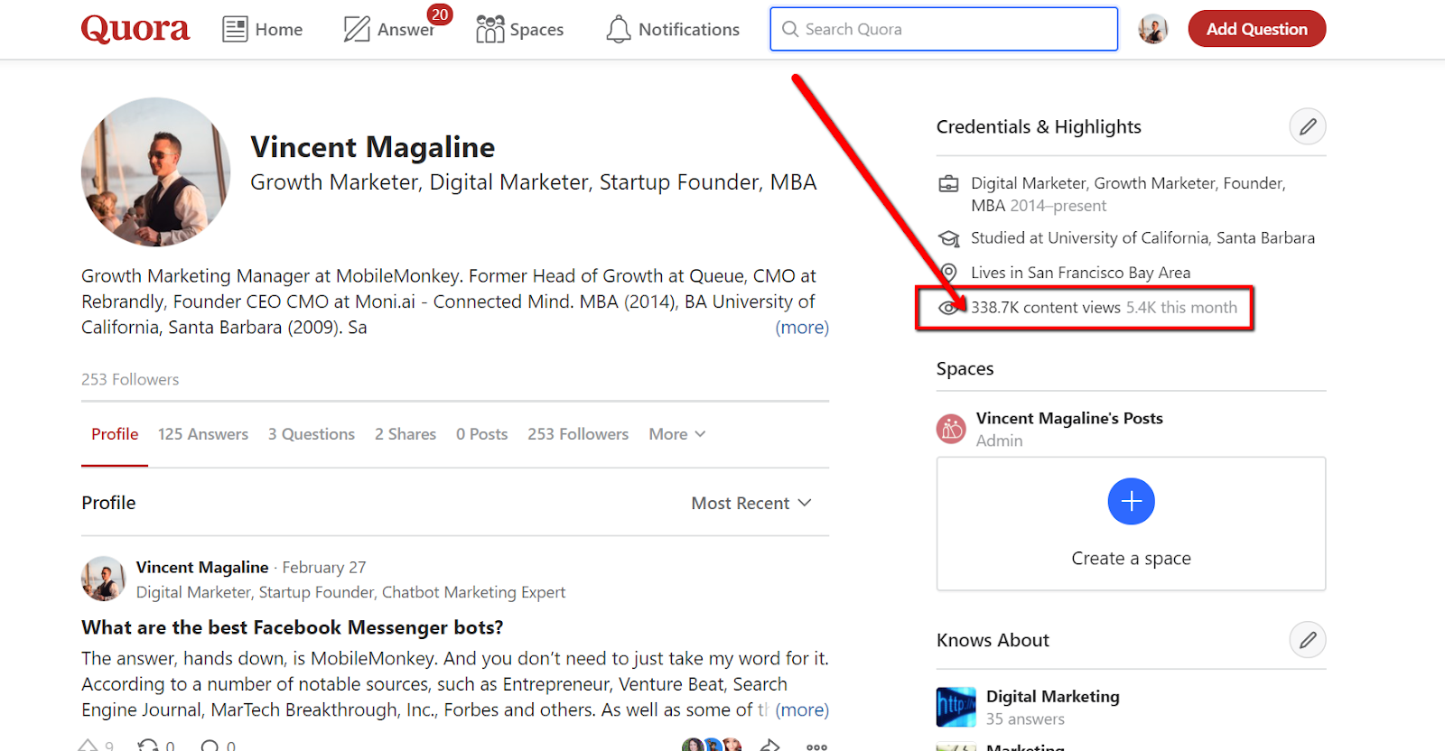 generate leads from Quora