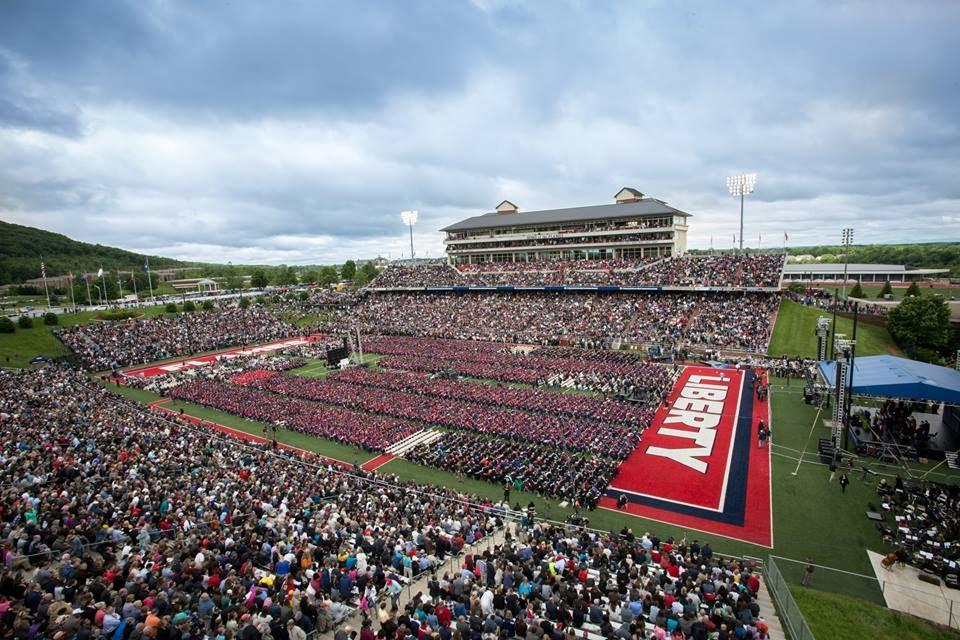 Image result for donald trump liberty university commencement photos