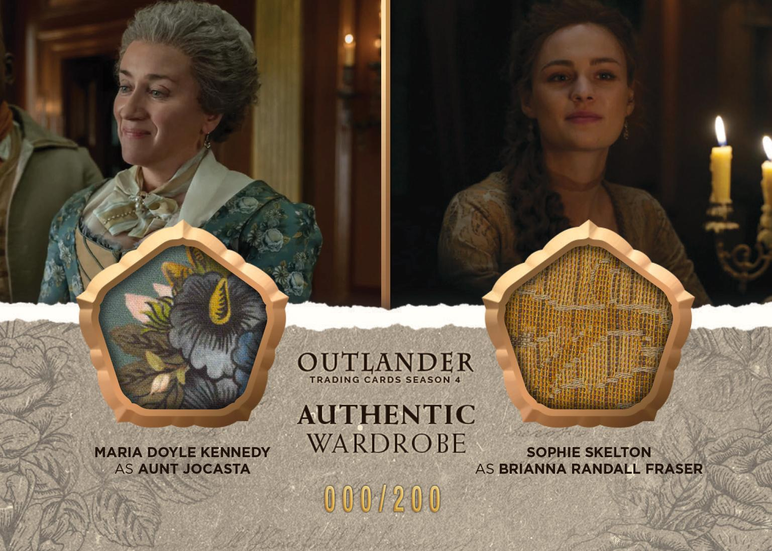 Outlander Trading Cards Season 4: Convention Wardrobe Cards CE4