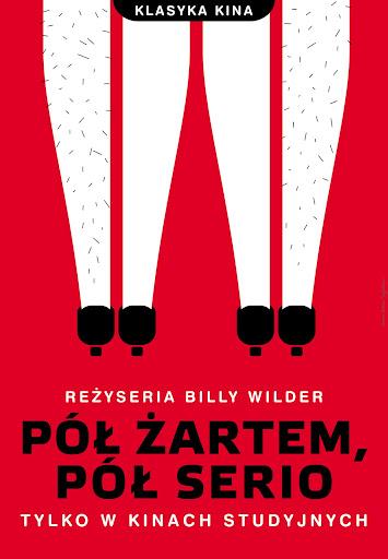 Polski plakat filmu 'Pół Żartem, Pół Serio'