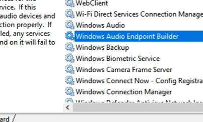 windows audio endpoint builder