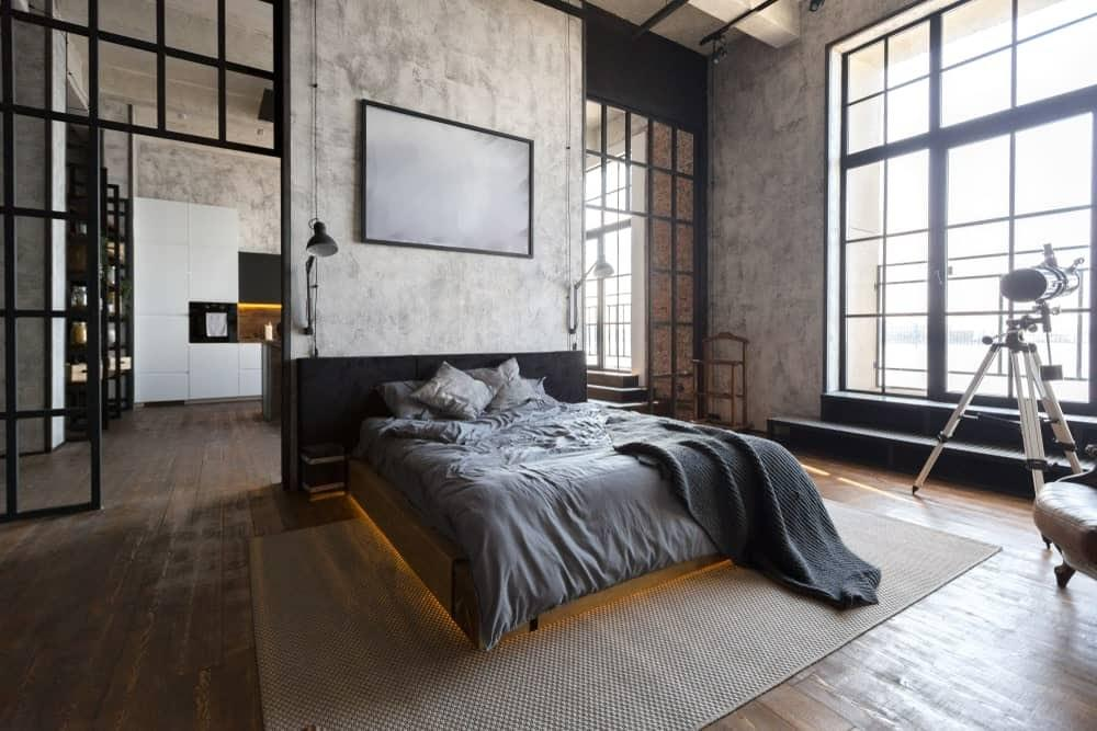 Industrial Style For Master Bedroom Wall Decor