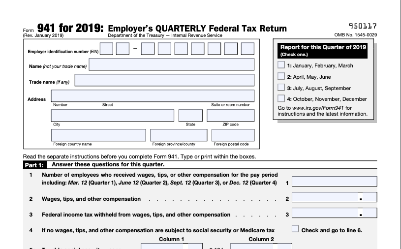 941 form to print  What is IRS Form 12?