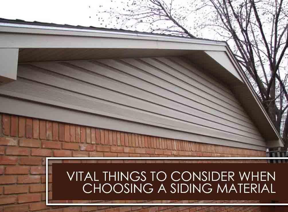 Choosing a Siding Material
