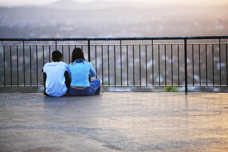 Couple Watching Sunrise 2
