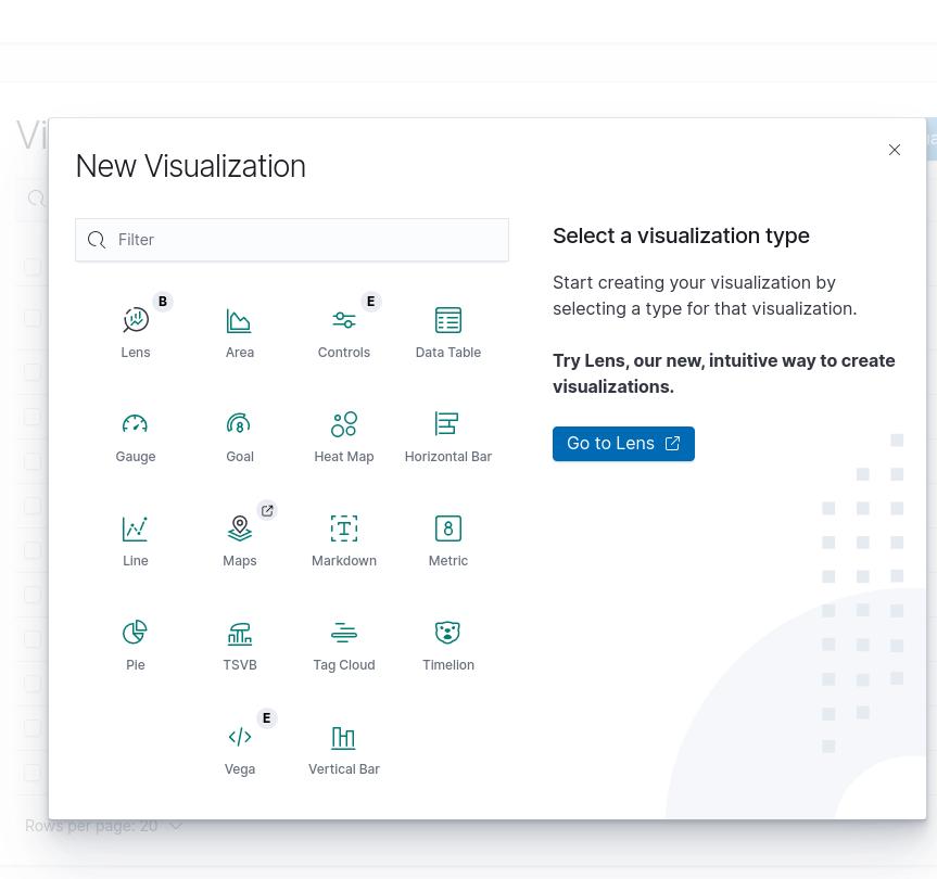 New Visualization Screen