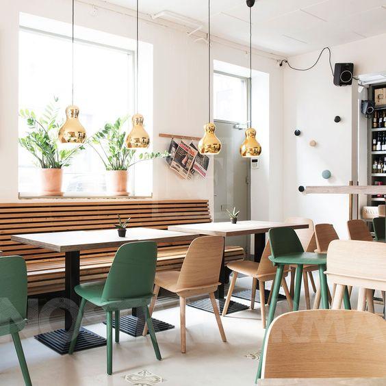 cafétéria de style déco scandinave
