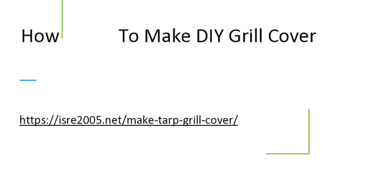 How To Make DIY BBQ Cover
