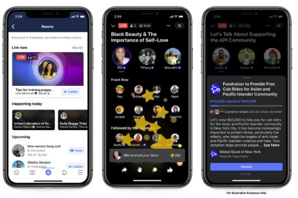 As salas de audio do Facebook estarão disponíveis primeiro nos grupos.