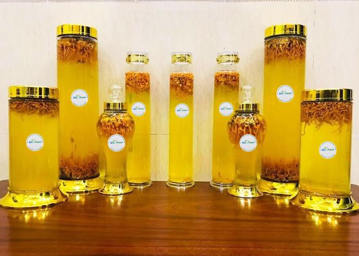 Cách sử dụng đông trùng hạ thảo khô để ngâm rượu