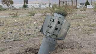 неразорвавшая ракета, Карабах