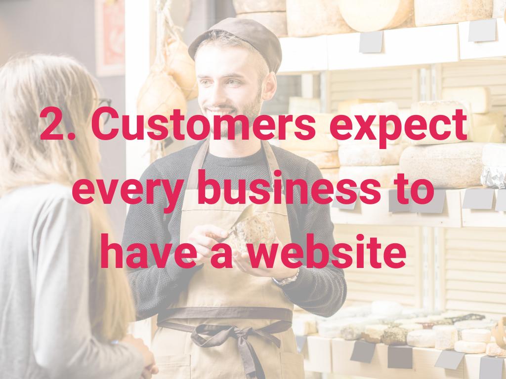 Klanten verwachten dat elk bedrijf een website heeft