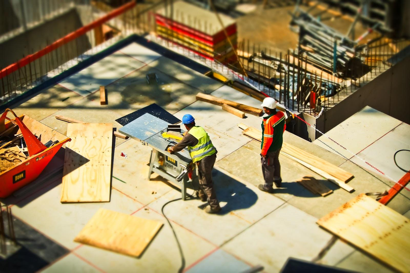 construction workers working