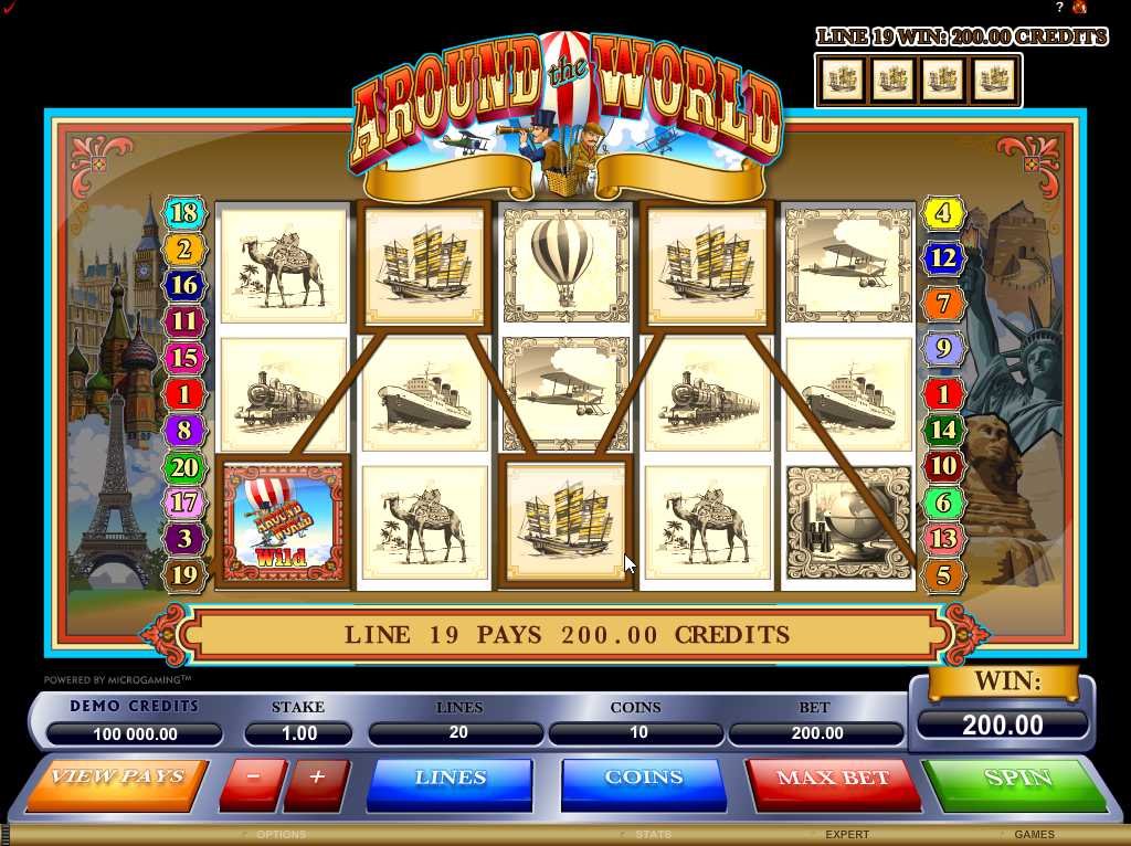 Around the World Slots Game Review