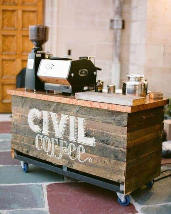 The Island of Espresso Coffee Station idea