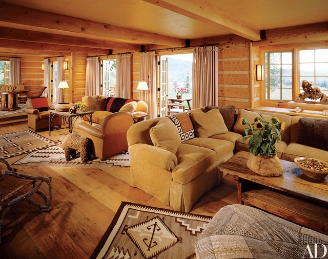 Charmant Rustic Log Cabin Interior Design