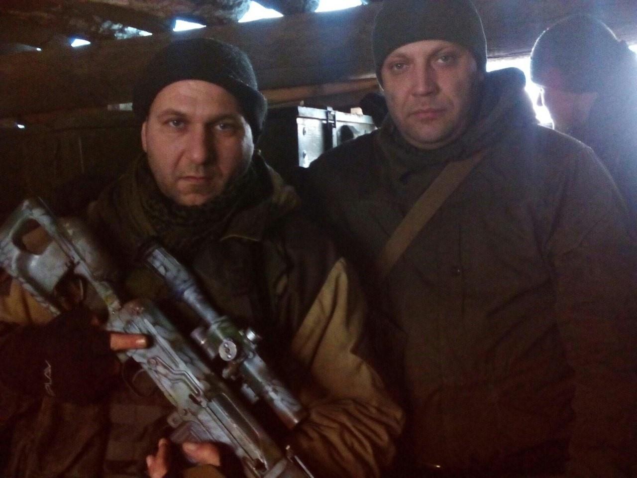 Кавалері з ватажком терористів «ДНР» Олександром Захарченко, січень 2016
